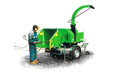 Laski HLS150D trailer swivel-mounted wood chipper